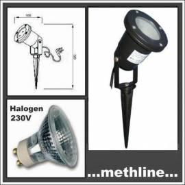 Gartenstrahler mit Erdspieß G1 Halogen 35W 230V - Bild vergrößern