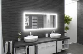 LED Spiegel M303-L4 Wandspiegel Badspiegel 180 x 80 weiß beleuchtet - Bild vergrößern