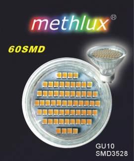 LED GU10 3W weiß 60 SMD 230V mit Scheibe - Bild vergrößern