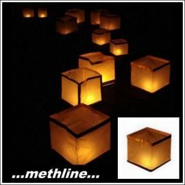 Wasserlaterne Kerzentüte Kerze Papiertüte Papierlaterne - Bild vergrößern