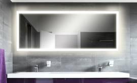 LED Spiegel M303-L4 Wandspiegel Badspiegel 120 x 60 weiß beleuchtet - Bild vergrößern
