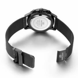 Herrenuhr Armbanduhr Metall silber wasserdicht Megir - Bild vergrößern