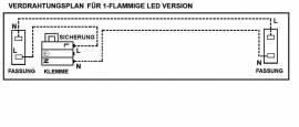 LED Leuchtstofflampe 120cm 4000K weiß Röhre wechselbar - Bild vergrößern