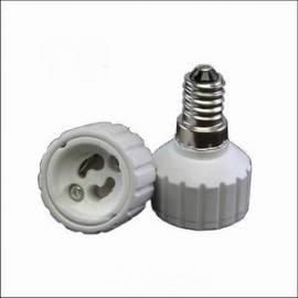 10 St. Adapter E14 - GU10 Lampenfassung Keramik - Bild vergrößern