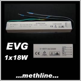 EVG für Leuchtstofflampe T8 1x18W elektronisches Vorschaltgerät - Bild vergrößern