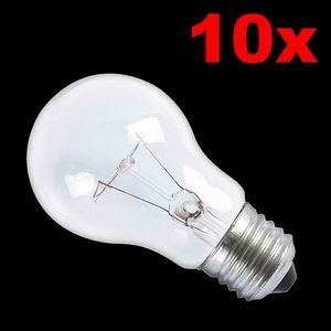 Glühlampe 10 x E27 100W matt Glühbirne