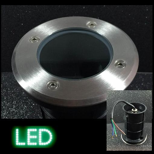 Bodeneinbauleuchte B6-rund klar LED GU10 230V