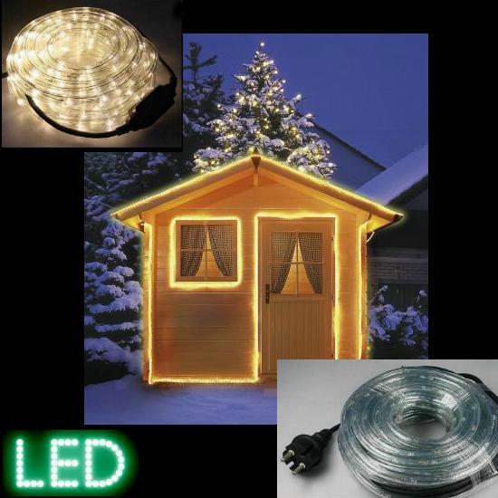 LED-Lichtschlauch 10 m warmweiß IP44