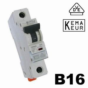 Automat B16 1pol. Leitungsschutzschalter B Charakteristik