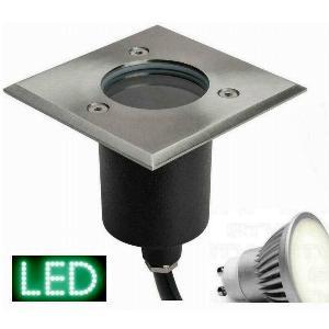 Bodeneinbauleuchte alpha-quadrat LED GU10 230V